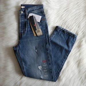 Levi's Wedgie Straight Ripped Selvedge Jeans 24